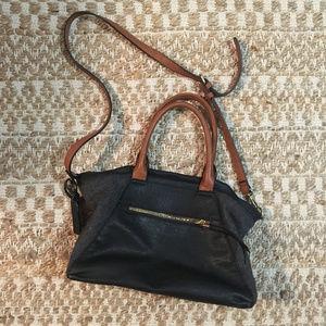 Sole Society Crossbody Bag Black Vegan Leather